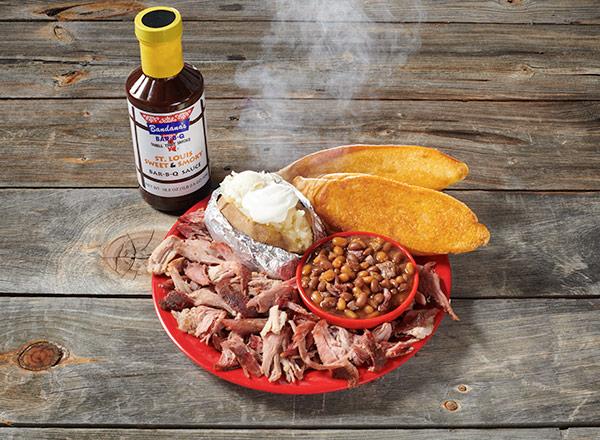 Pork Platter with Sweet and Smokey Sauce