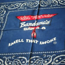 Blue - Bandana Scarf with Logo