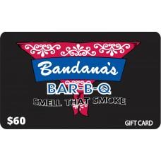 Bandanas Gift Card - $60