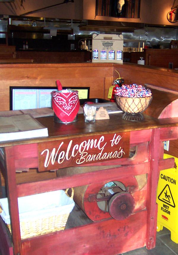 Bandanas Reception Counter